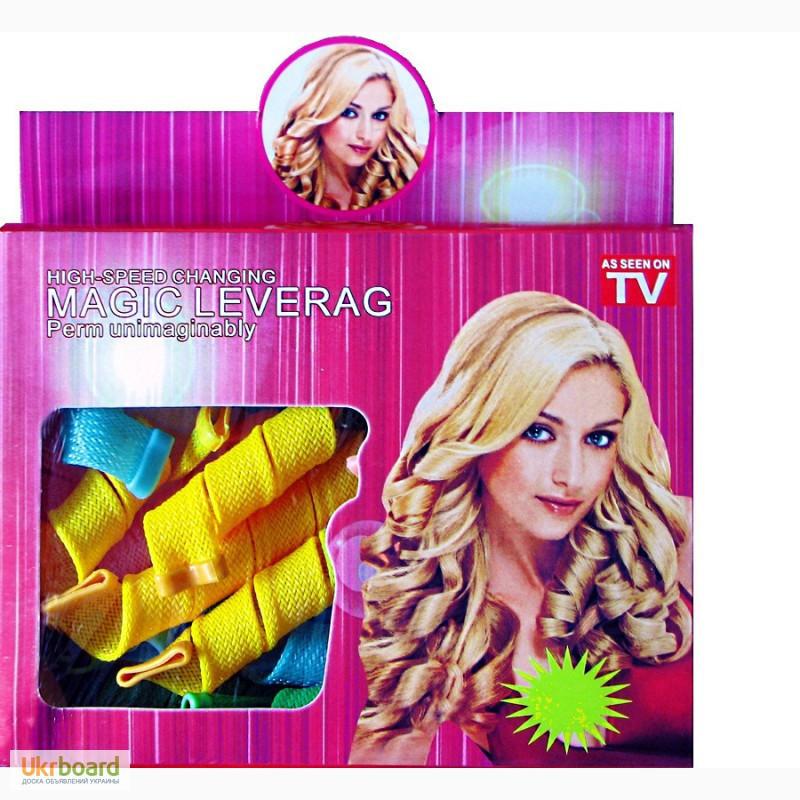 Волшебные БИГУДИ 16 ШТ для волос, любой длины Hair Wavz, бигуди-спираль