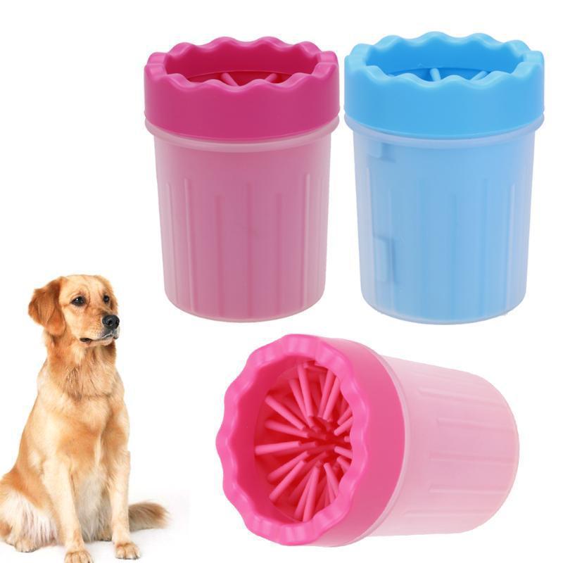 """Стакан для мытья лап, лапомойка маленькая для собак, мойка для лап """"Soft Gentle"""""""