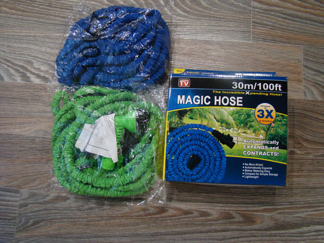 Шланг для полива X HOSE 30 м с распылителем, садовый шланг, поливочный шланг для сада