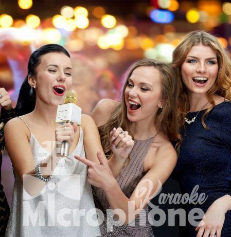 Bluetooth микрофон для караоке Q7 Блютуз микро + ЧЕХОЛ