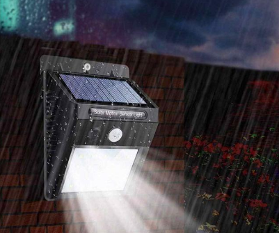 Светодиодный Навесной фонарь с датчиком движения 609 + solar 20 диодов