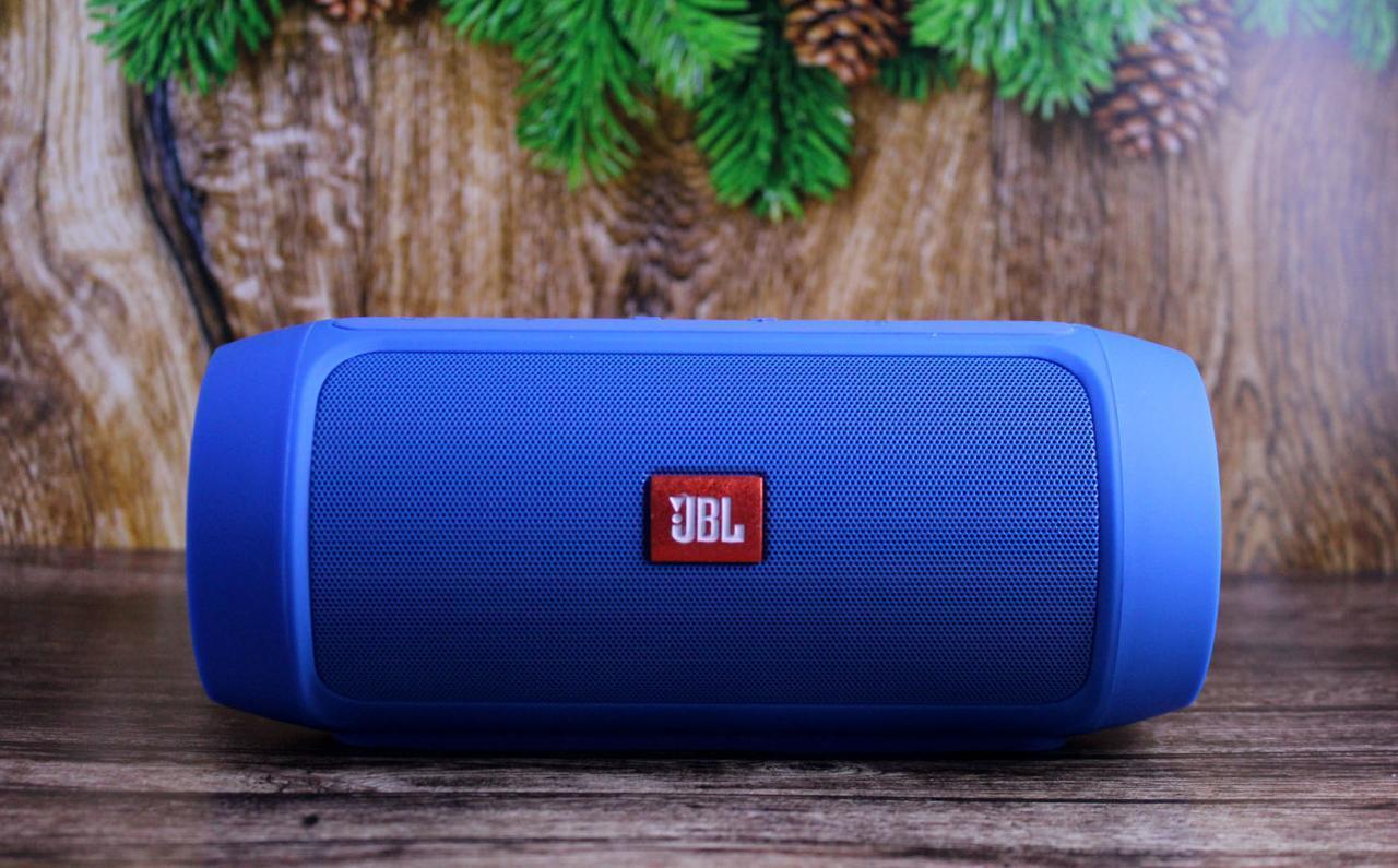 Портативная колонка JBL Charge 2+ Большая! блютуз (bluetooth) + радио + микрофон + PowerBank СИНЯЯ
