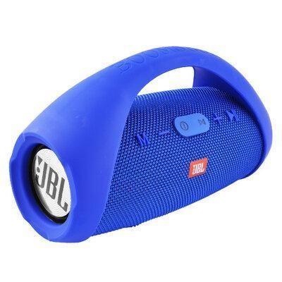 Колонка JBL BOOMBOX MINI E10 с USB, SD, FM, Bluetooth, 2-динамиками, хорошая реплика JBL СИНЯЯ