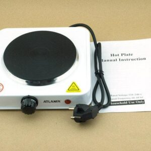 Электрическая плитка дисковая  с защитой от перегрева 1000ВТ Atlanfa AT-1755A