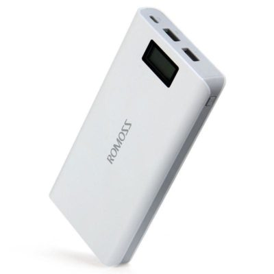 Power Bank Romoss LCD 50000mAh Sense 6 PLUS 2USB, повербанк с экраном, мощный портативный аккумулятор