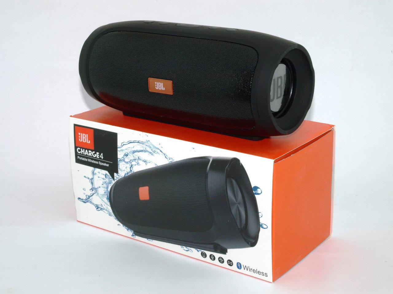 Портативная колонка JBL Charge 4 Большая! блютуз (bluetooth) + радио + микрофон + PowerBank, реплика JBL
