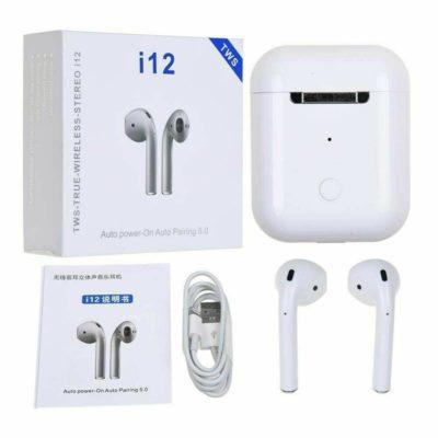 Беспроводные сенсорные Bluetooth наушники AirPods i12-TWS, лучшая реплика AirPods