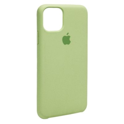 Силиконовый чехол накладка Original Silicone Case High Copy — iPhone 11 Pro Max — Green (1)