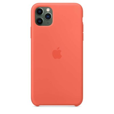 Силиконовый Чехол Накладка Original Silicone Case High Copy — iPhone 11 Pro Max — Orange (2)