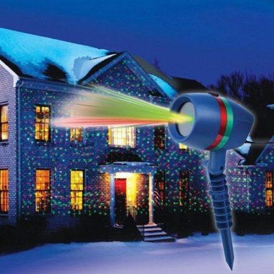Лазерный проектор на Новый год Woterproof Garden light.Качество B. Лучшая Цена!