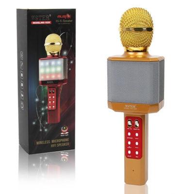 Мощный, стильный Караоке микрофон WSTER WS-1828 c LED подсветкой. Лучшая Цена!