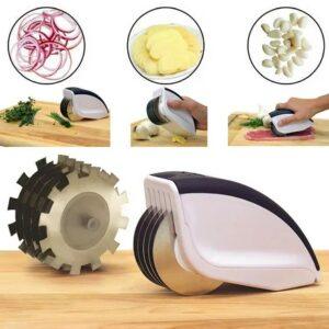 Нож для нарезки 3 в 1 Rolling Mincer и Tenderizer с чесночным прессом овощерезка