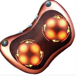 Массажная подушка MASSAGE PILLOW QY-8028 инфракрасный роликовий массажер для шеи и спины 8 массажных ролика