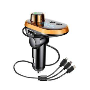 Трансмиттер ( FM модулятор) FM CAR Q15 5572 с Bluetooth и кабелем 3 в 1