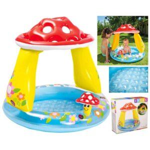 Надувной бассейн с навесом Гриб 102*89см 57114 Интекс Intex грибочек с надувным дном