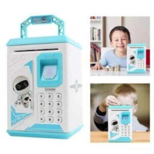 Детская электронная копилка сейф с кодовым замком и отпечатком пальца ROBOT BODYGUARD