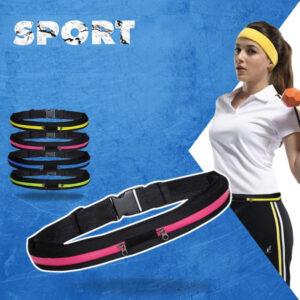Сумка - пояс Run, чехол для бега, спорта, велосипеда, фитнеса, на пояс, на 2 кармана