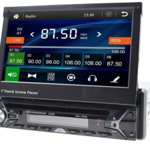 Автомагнитола 1DIN MCX-1703AD Windows с выезжающим экраном со съемной панелью