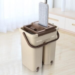 Швабра с ведром с автоматическим отжимом Easy Mop   Комплект для уборки Чудо-швабра и ведро с отжимом