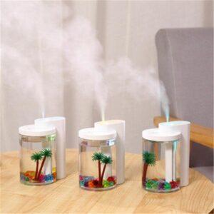 Увлажнитель воздуха и ночник (2в1) прозрачная чашка украшение Humidifier