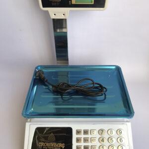 Торговые весы со счетчиком цены Crownberg CB-5008до 50 кг. Лучшая цена!