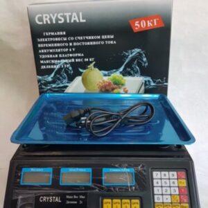 Торговые Весы электронные с калькулятором Crystal 50 kg 6V Черный Лучшая цена!