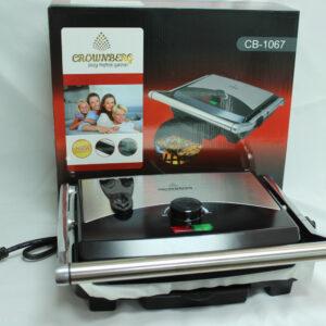 Электрогриль Crownberg CB-1067 прижимной с терморегулятором 2000Вт