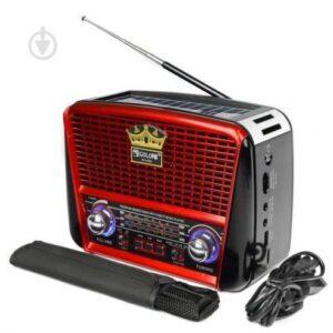 Радио портативная колонка MP3 USB Golon с солнечной панелью Golon RX-456S Solar