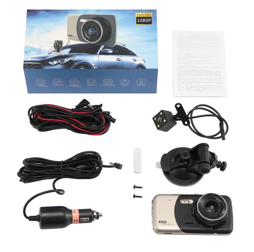 Автомобильный видеорегистратор +камера заднего хода T652 FULL HD