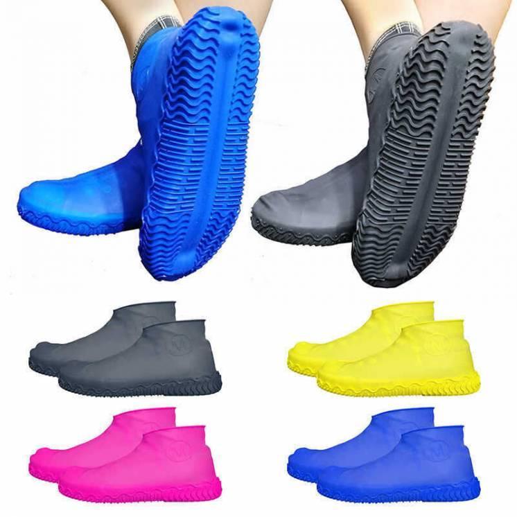 Силиконовые чехлы бахилы для обуви от дождя и грязи размер L 41-45