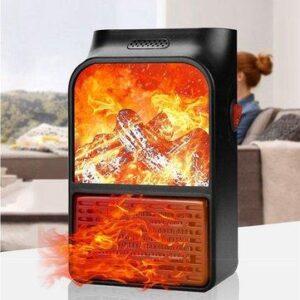 Портативный обогреватель с пультом Flame Heater (1000 Вт) Экономный