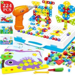 "Развивающий конструктор на 224 детали Tu Le Hui ""Puzzle Peg"" чемодан TLH-29"