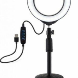 Кольцевая Led лампа Ring Light 20 см на круглом штативе с держателем для смартфона