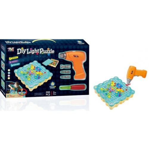 "Конструктор Tu Le Hui ""Diy Light Puzzle"" (200 детали) 12LED TLH-19 с шуруповертом"