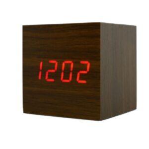 Электронные настольные часы в виде деревянного бруска LED WOOD CLOCK VST-869-1
