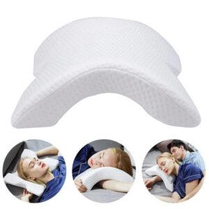 Подушка ТОННЕЛЬ для шеи из пены с эффектом памяти изогнутая (MW-21)
