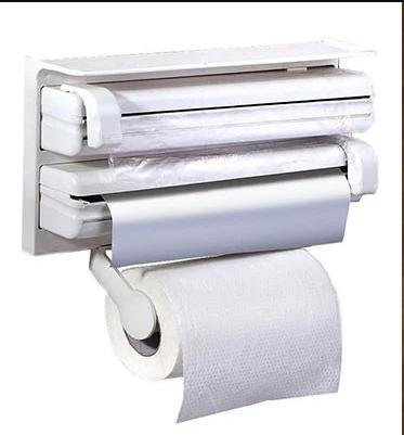 Кухонный тройной держатель Triple Paper Dispenser 3 в 1 для бумажных полотенец пищевой пленки и фольги