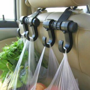 Универсальный автомобильный крючок-вешалка на спинку сиденья до 6 кг TV895