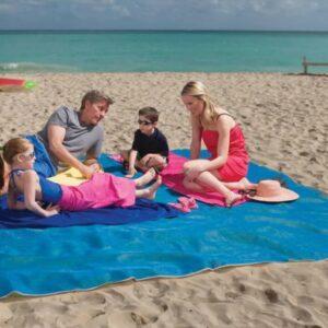 Пляжный коврик покрывало анти песок 200*150 см