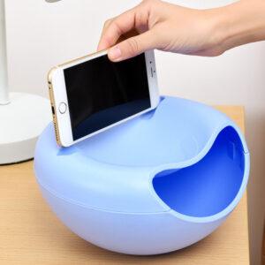 Миска для семечек с подставкой для телефона