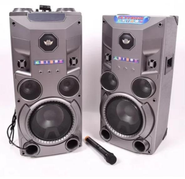 Комплект активной акустики с радиомикрофоном Rock Music RC-8950 (150W/FM/Bluetooth/USB)