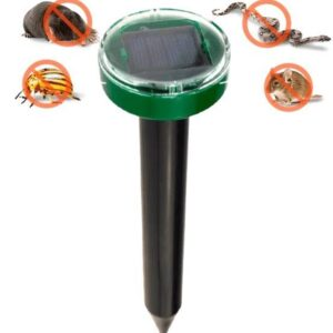 Отпугиватель грызунов кротов и насекомых аккумуляторный на солнечной батареи ультразвуковой EL-1087