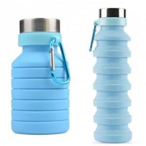 Складная силиконовая бутылка LUX Bottle 550 мл легкая и компактная для путешествий EL-582
