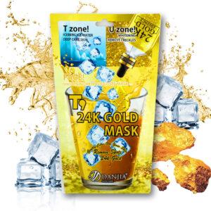 Тканевая маска  24х квадратное золото от веснушек DANJIA