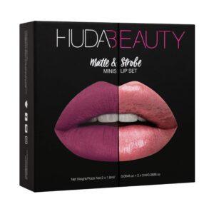 Набор из 4 мини-помад Huda Beauty Matte and Strobe Trophy Wife Set