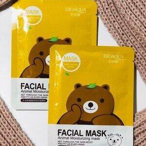 Маска с эссенцией зеленого чая Bioaqua Fasial Animal Mask Bear