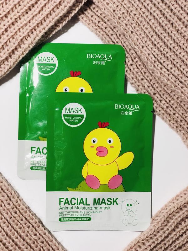 Маска с эссенцией коллагена и граната Bioaqua Facial Animal Moisturizing Mask Duck