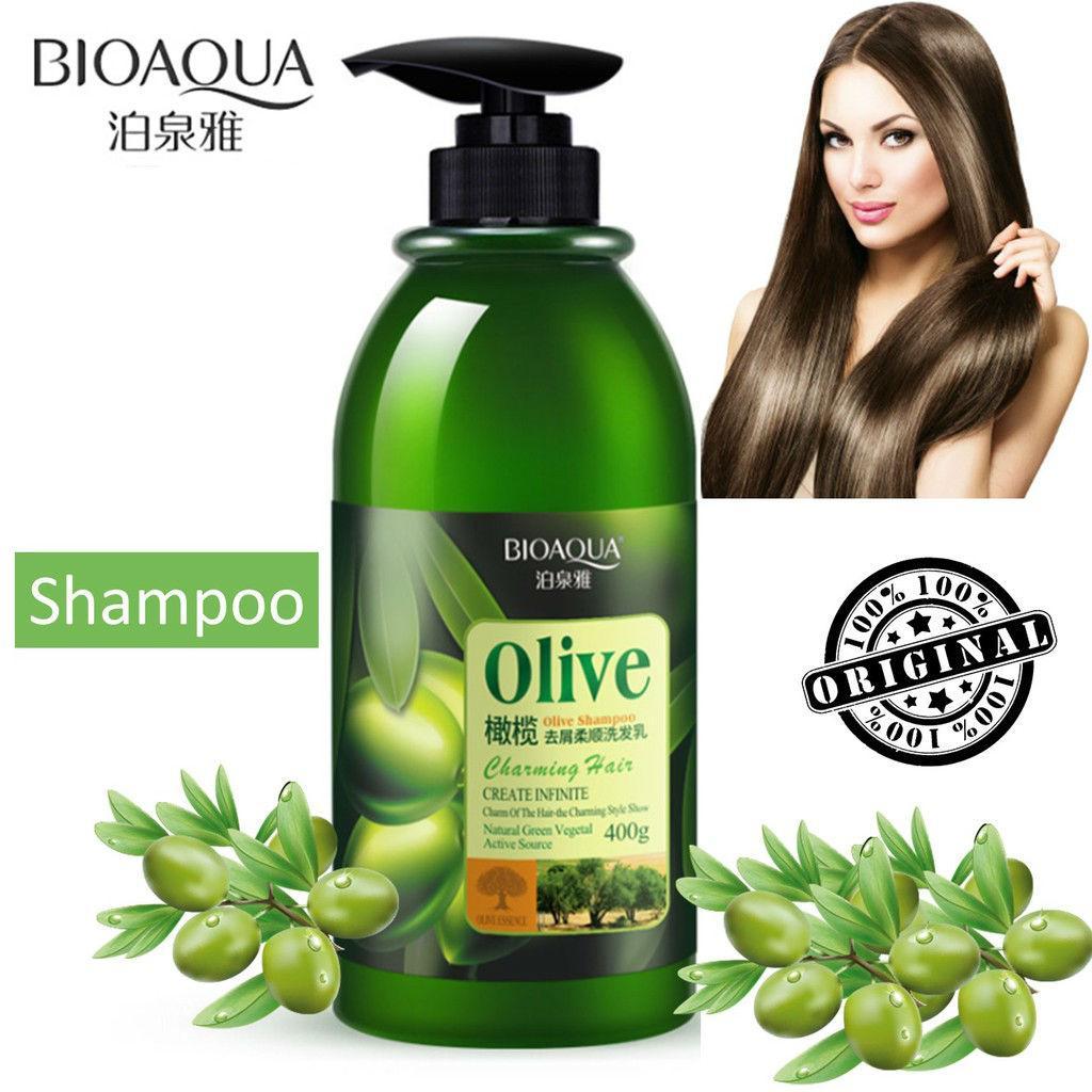 Шампунь для волос с оливковым маслом восстанавливающий BIOAQUA Olive Shampoo 400 мл