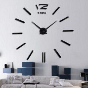Часы стильные настенные Time 3D DIY