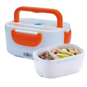 Ланч бокс контейнер для еды с подогревом от сети 220V и прикуривателя Electric lunch box